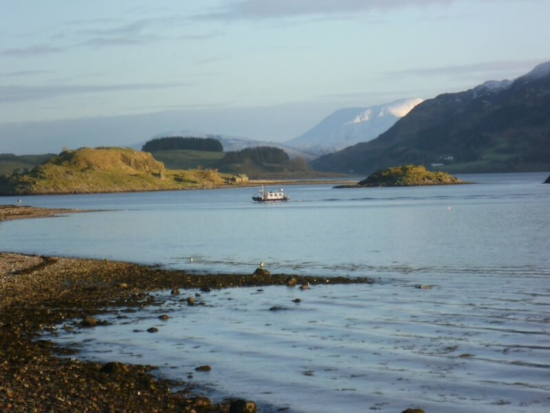 View to Ben Nevis and Appin Ferry