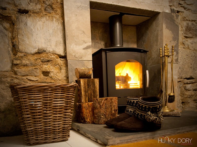 Waterside Cottage wood-burning stove
