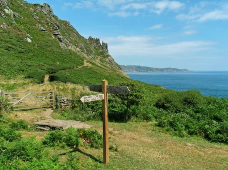 One mile from coastal path
