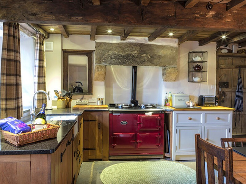 Shepherd's Cottage kitchen with Aga