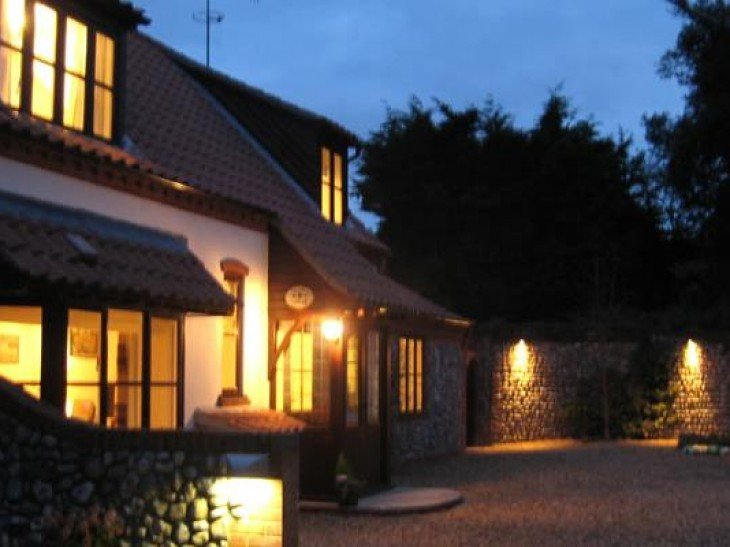 Stable Cottage at night