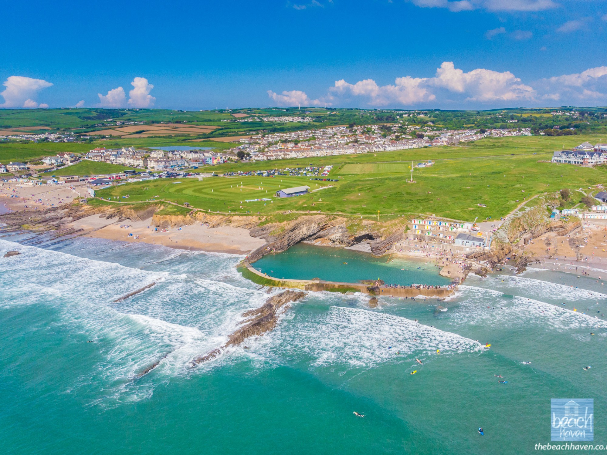 Bude has wonderful beaches and a sea pool - just 10 minutes walk from the Beach Haven.