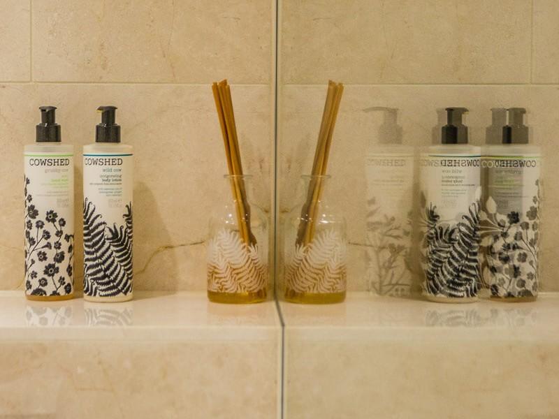 Luxury Cowshed toiletries in every bathroom