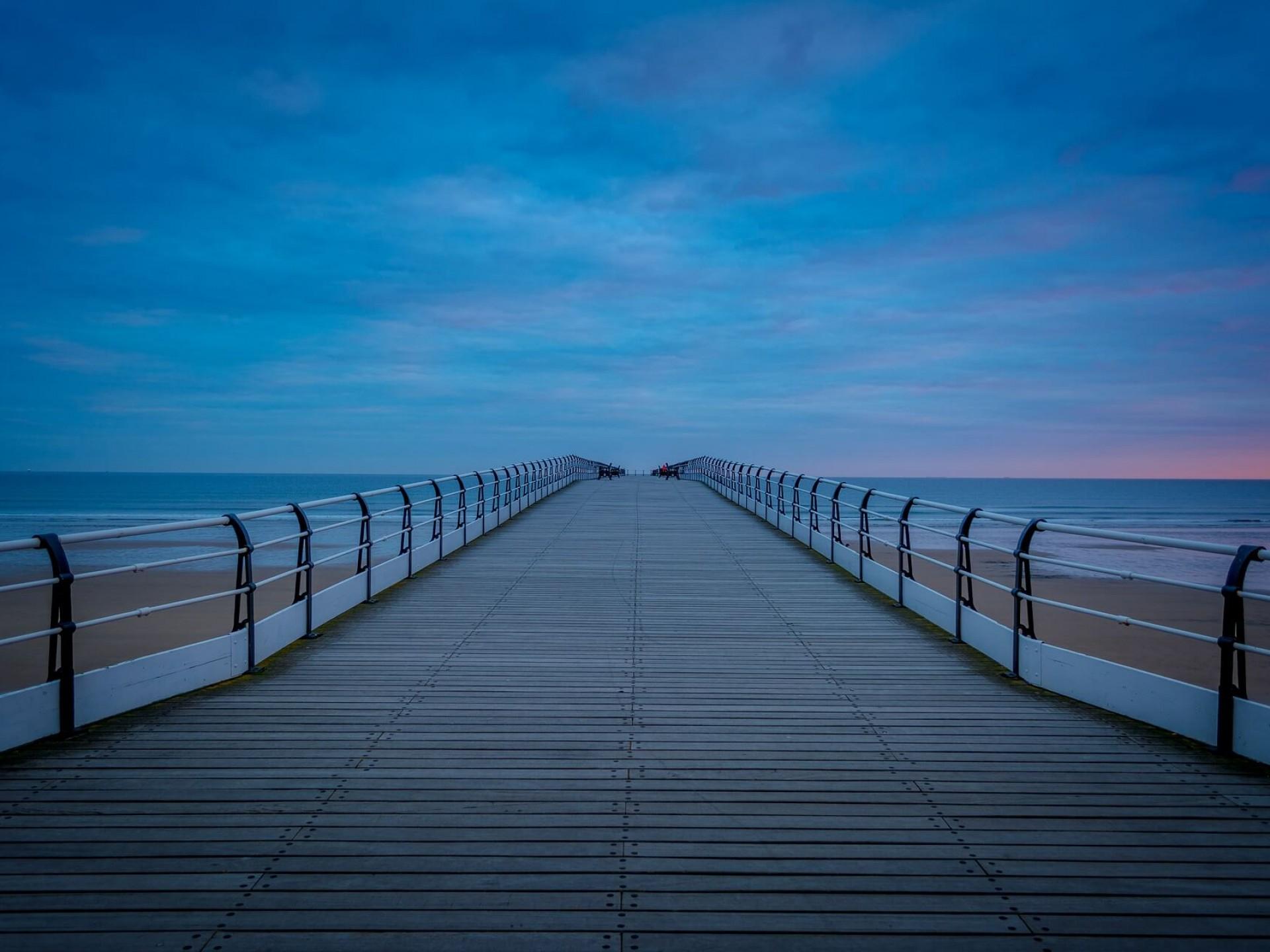 Saltburn Beach Pier at Dawn