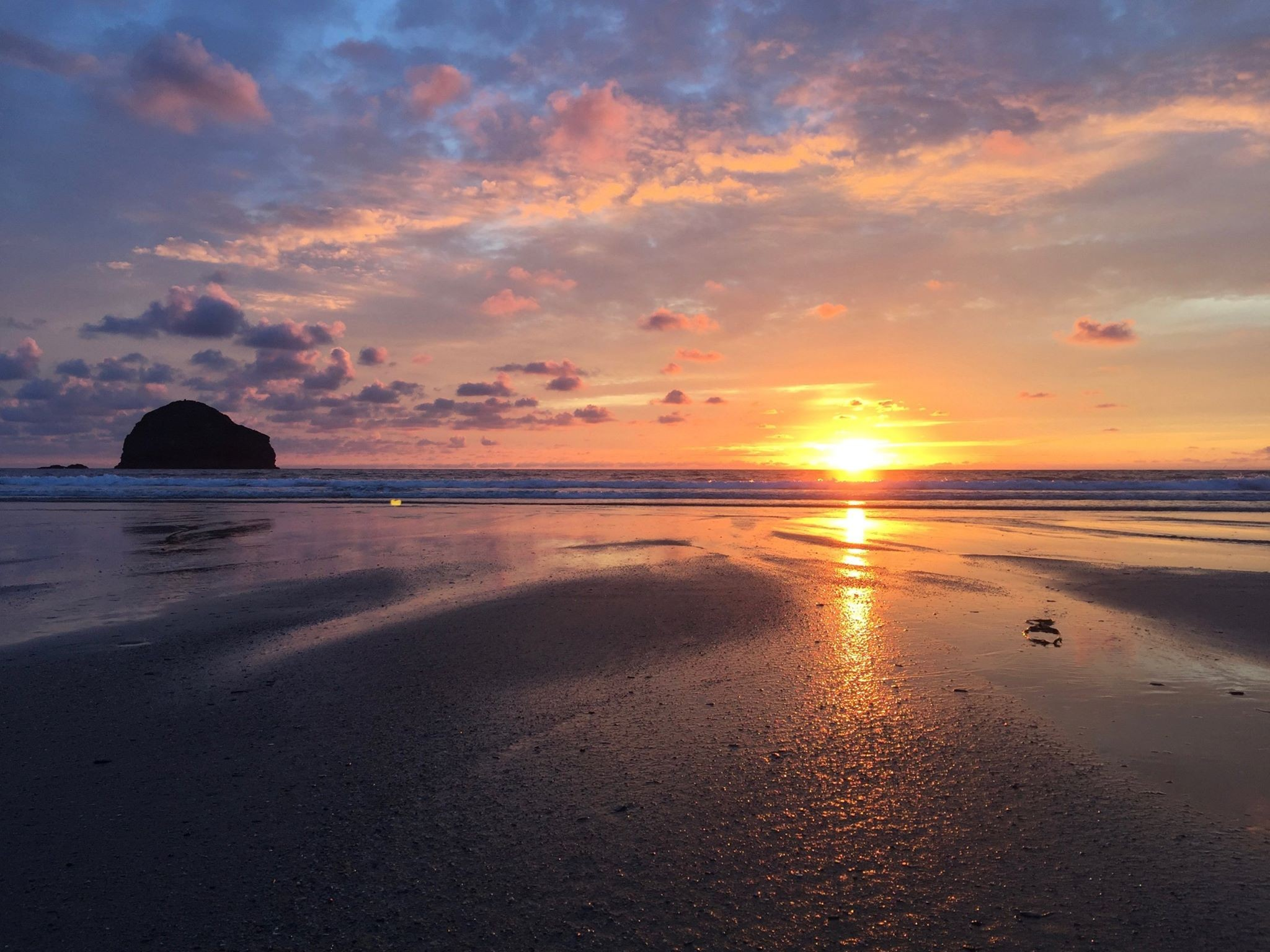 Trebarwith Strand, only 5 miles away from Fenteroon Farm Holiday Cottages