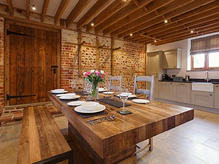 Platford Barn Dining Area