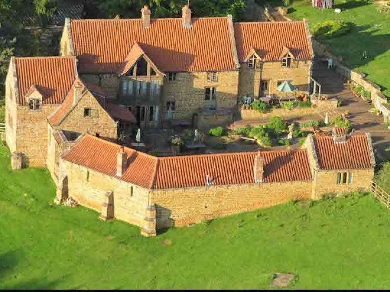 Heath Farm Holiday Cottages From The Air