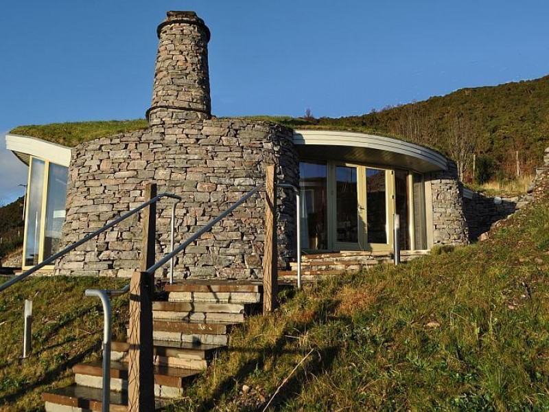 Curved Stone House At The Stonehouses Ullapool