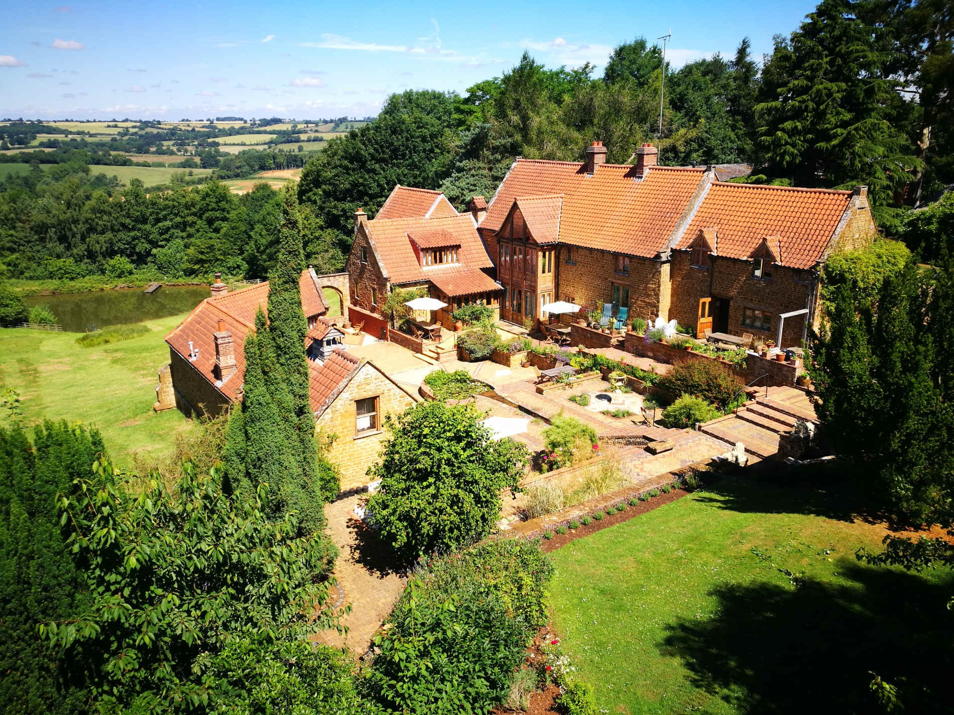 Overview of Heath Farm Holiday Cottages