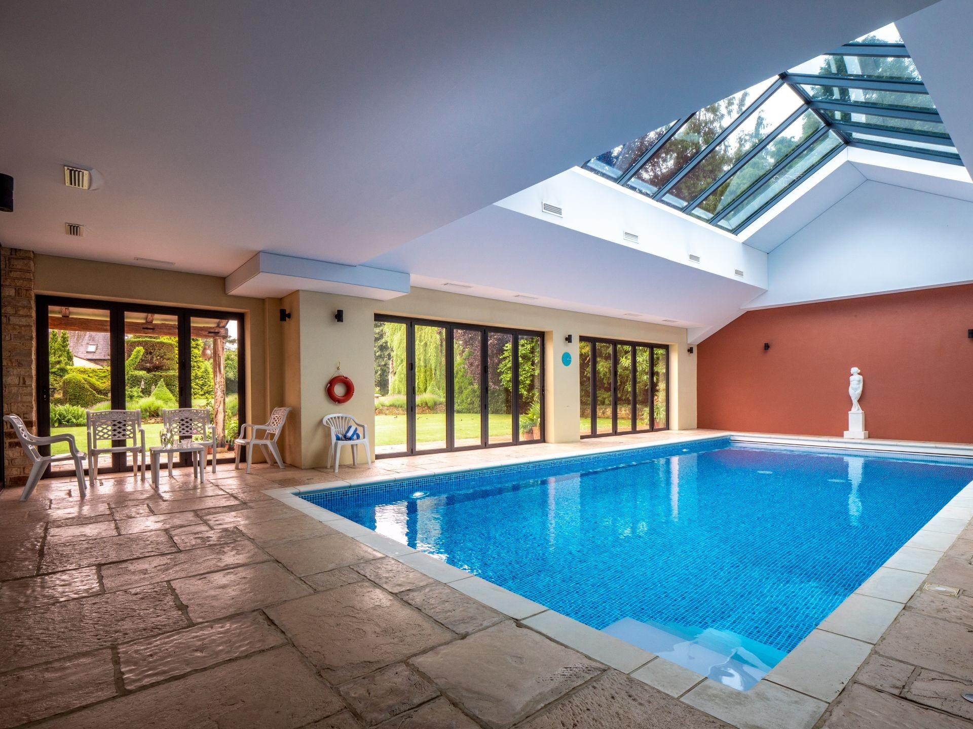Indoor, heated swimming pool