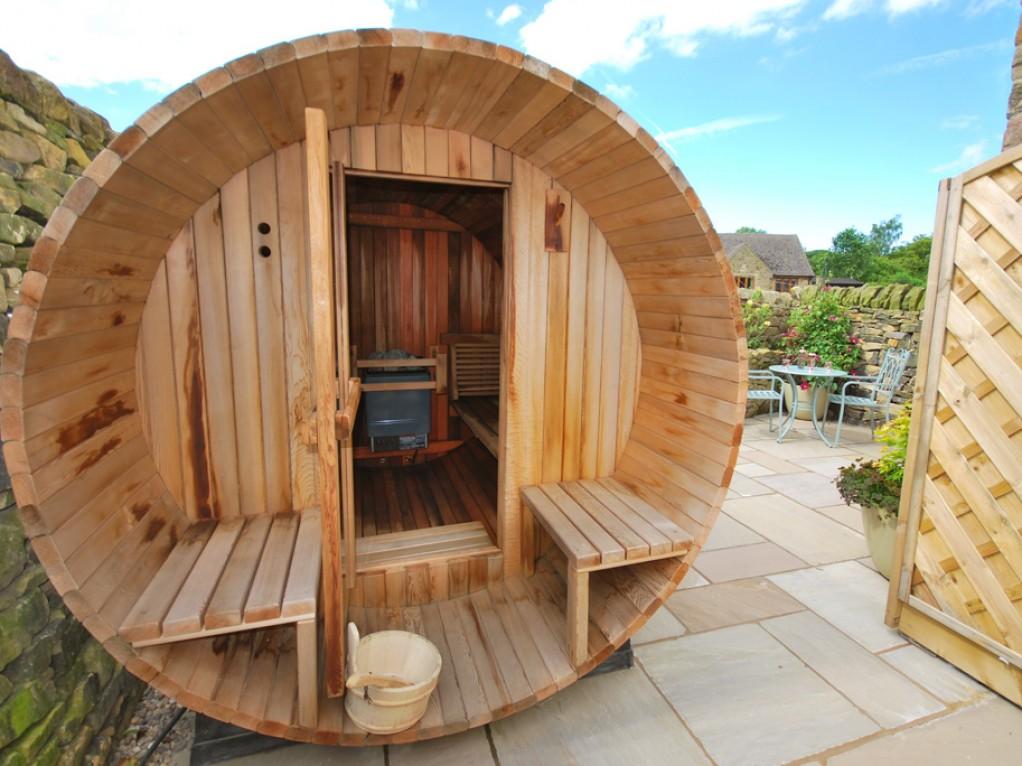 Beautiful Barrel Sauna