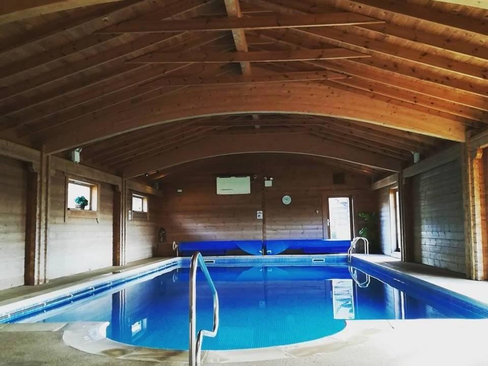 Indoor heated swimming pool & sauna.