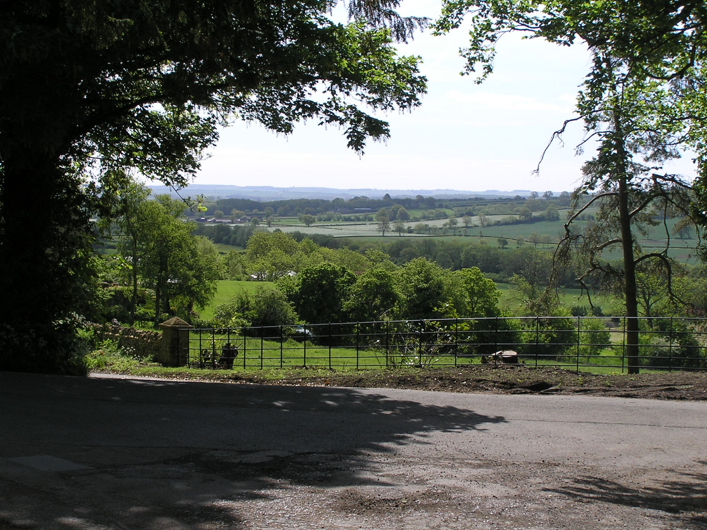 View from Maugersbury village