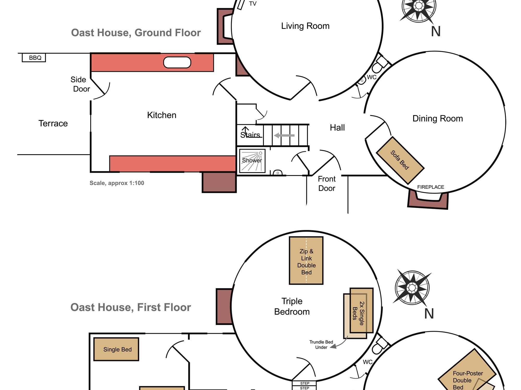 The Oast House floor plan