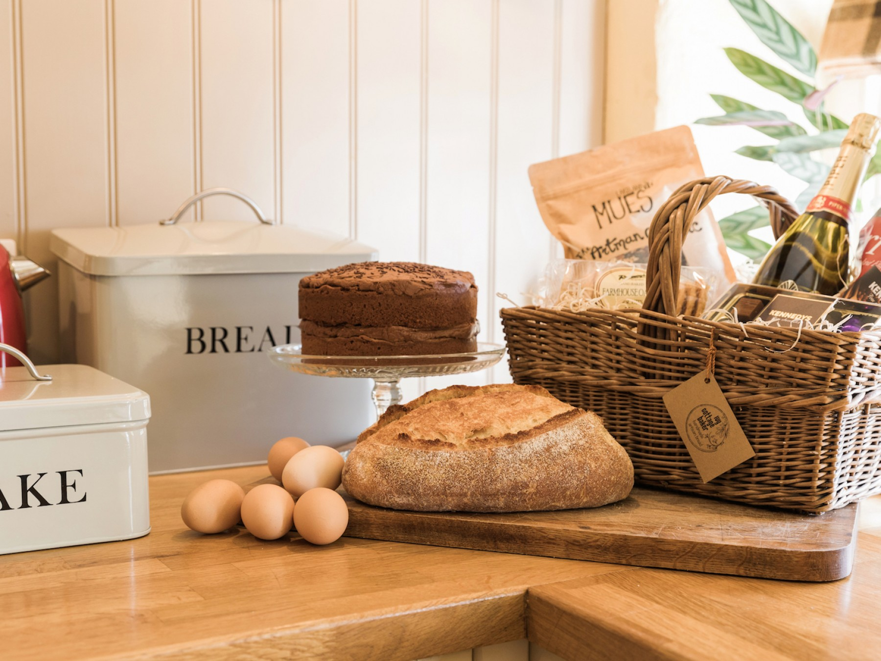 Delicious locally made goodies in the welcome hamper