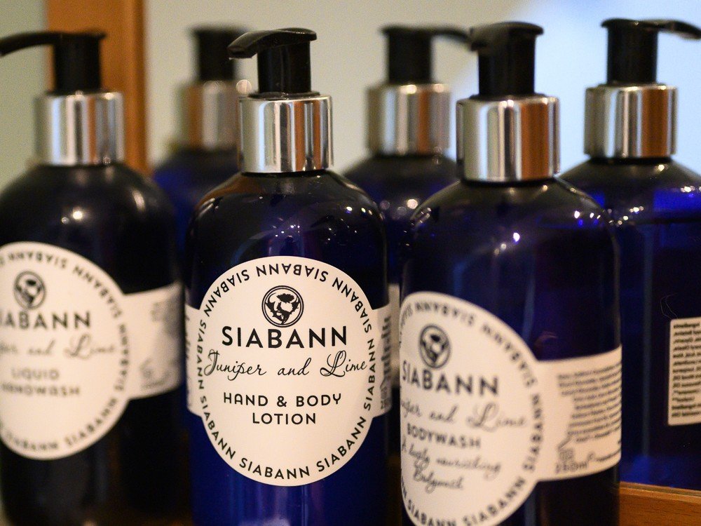 Siabann luxury Scottish toiletries