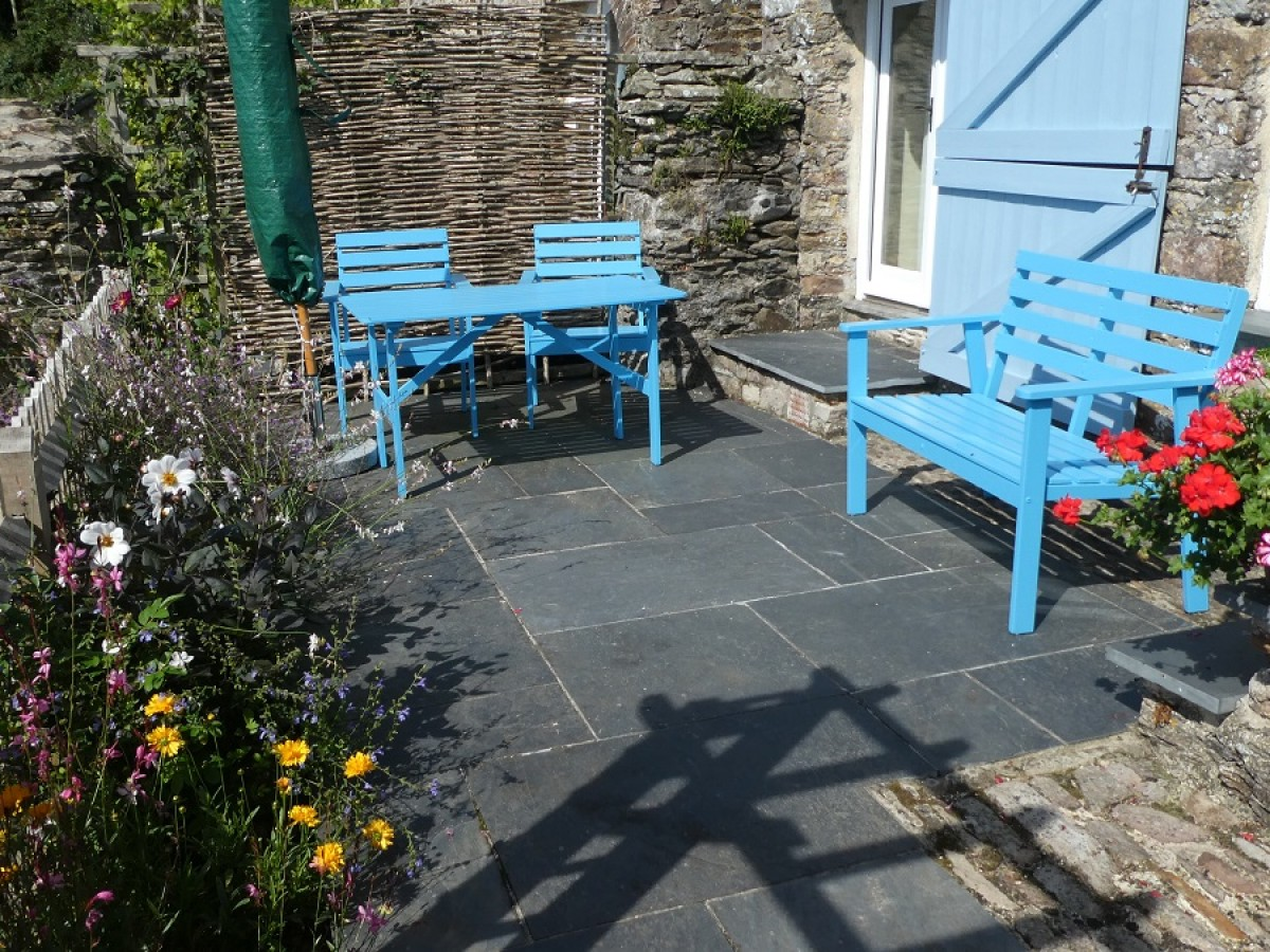 Sun Terrace at Cider House at Nutcombe Holiday Cottages
