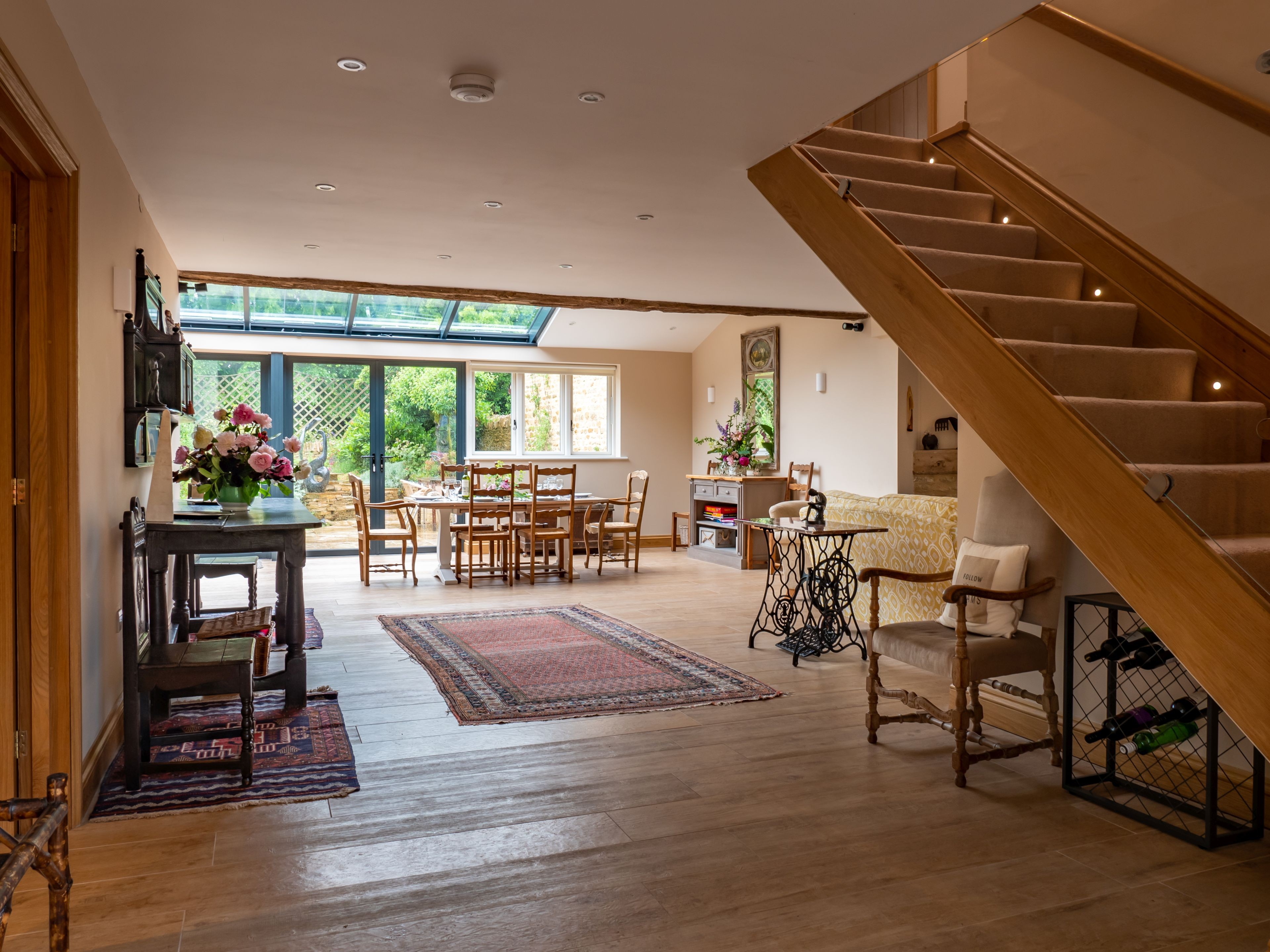Spacious and light ground floor