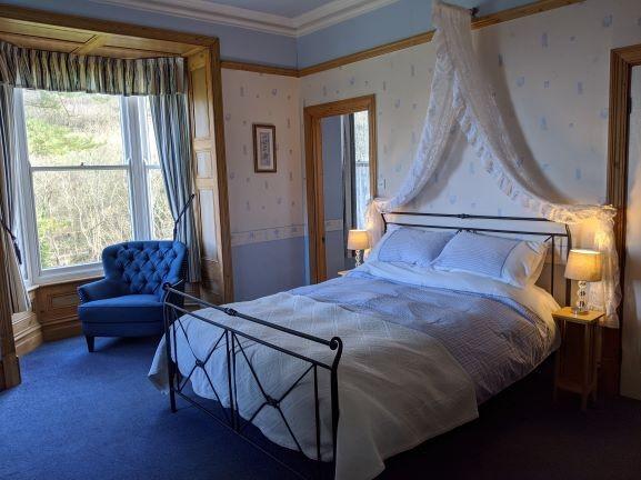 Victorian bedroom with sea view and en-suite