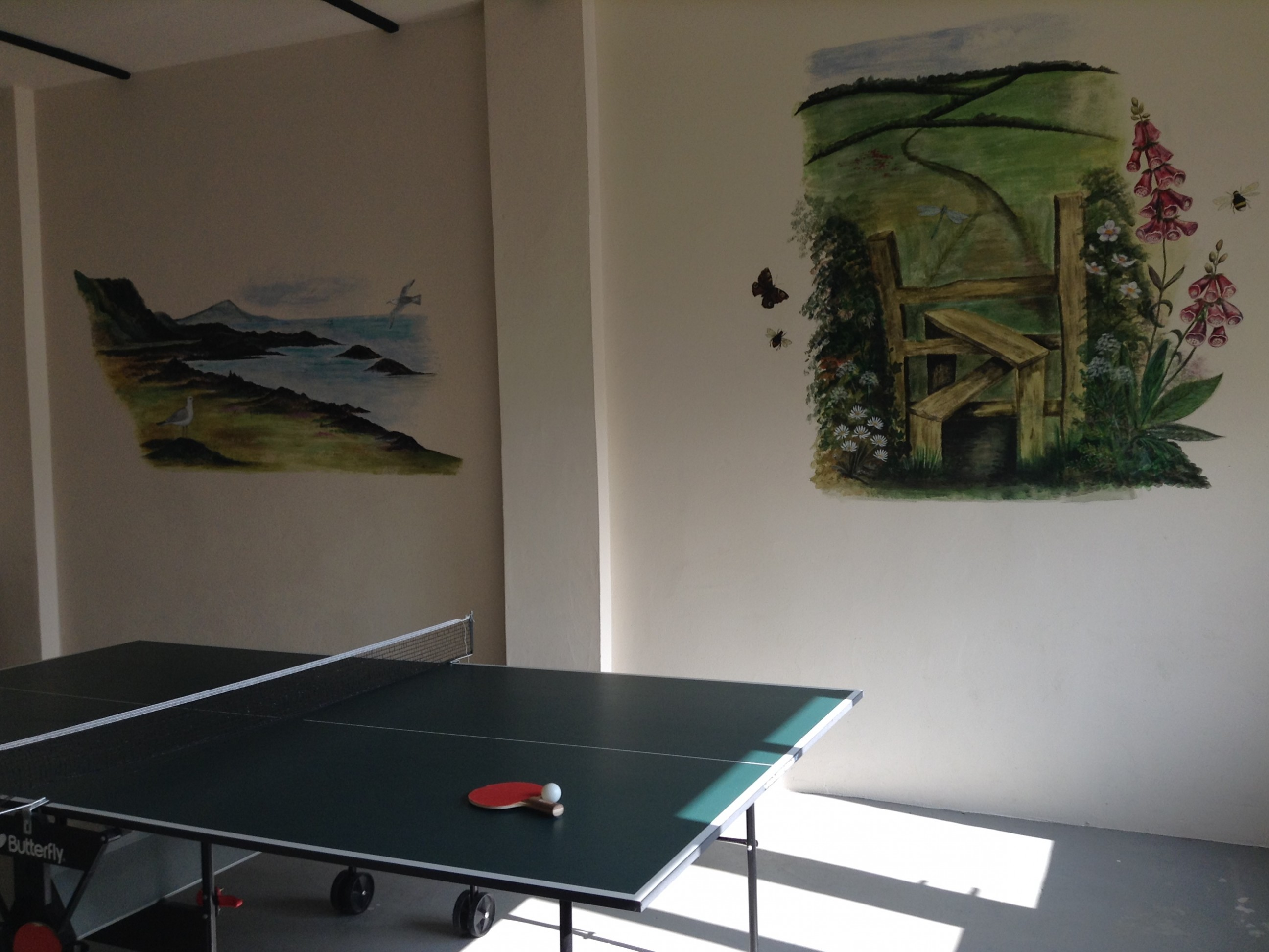 Games room at Odle Farm Holiday cottages