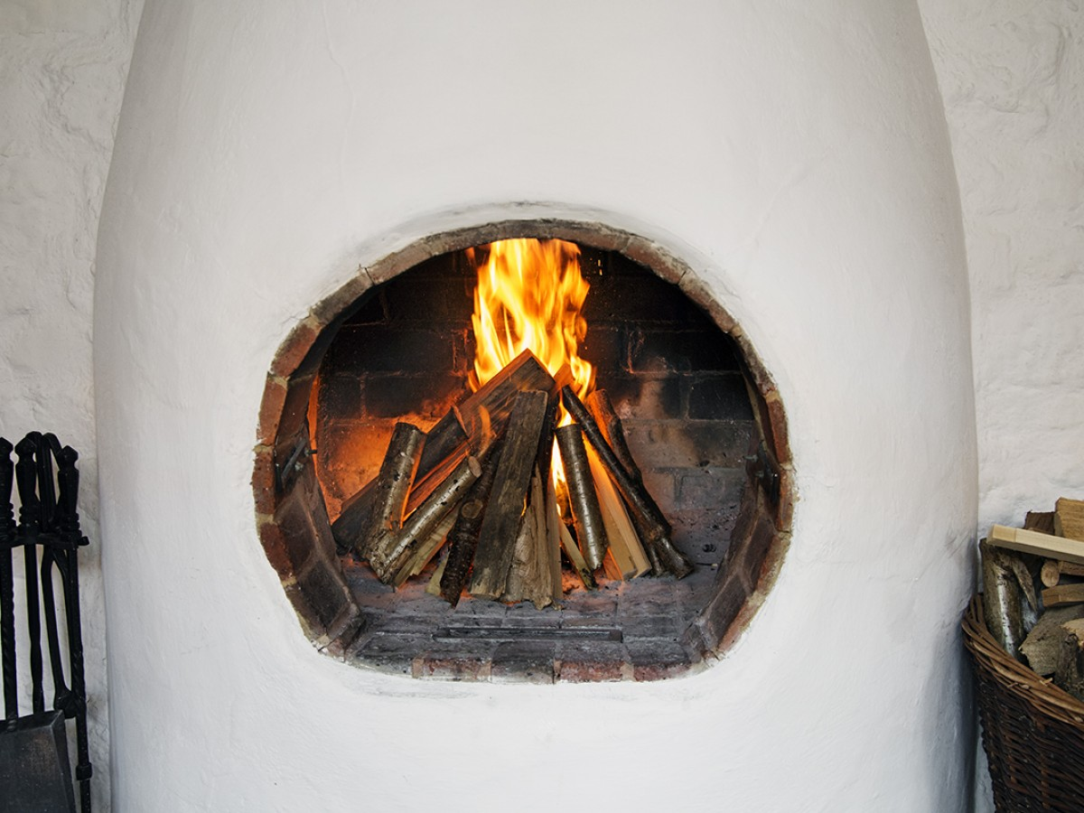 Beechnut Adobe Style Fireplace