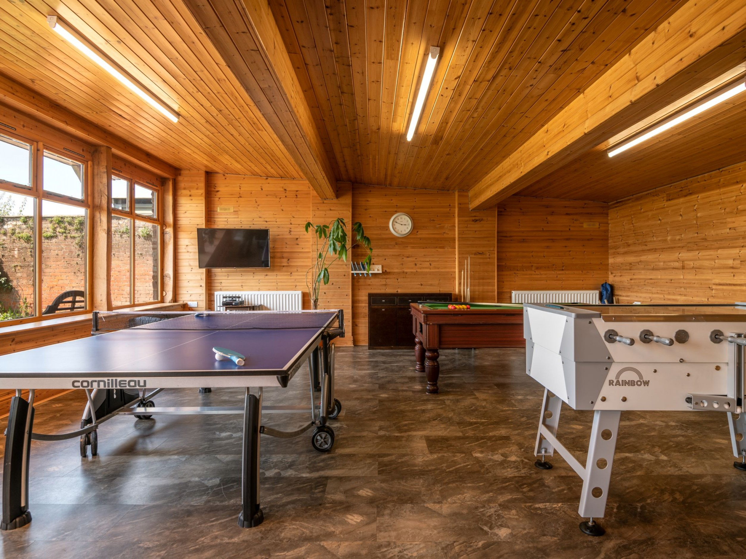 Games Room - table tennis, table football and pool table