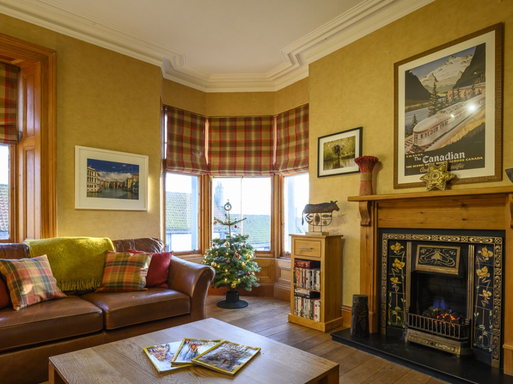 Sitting room at Christmas