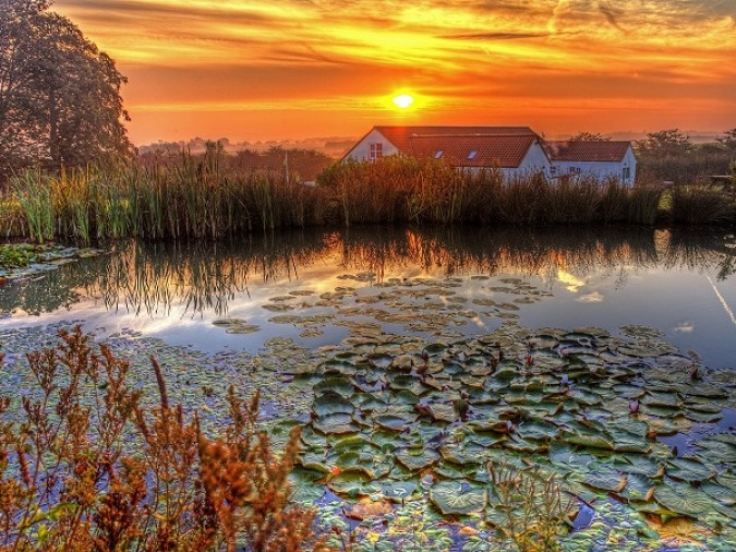 Sunrise at Greetham Retreat