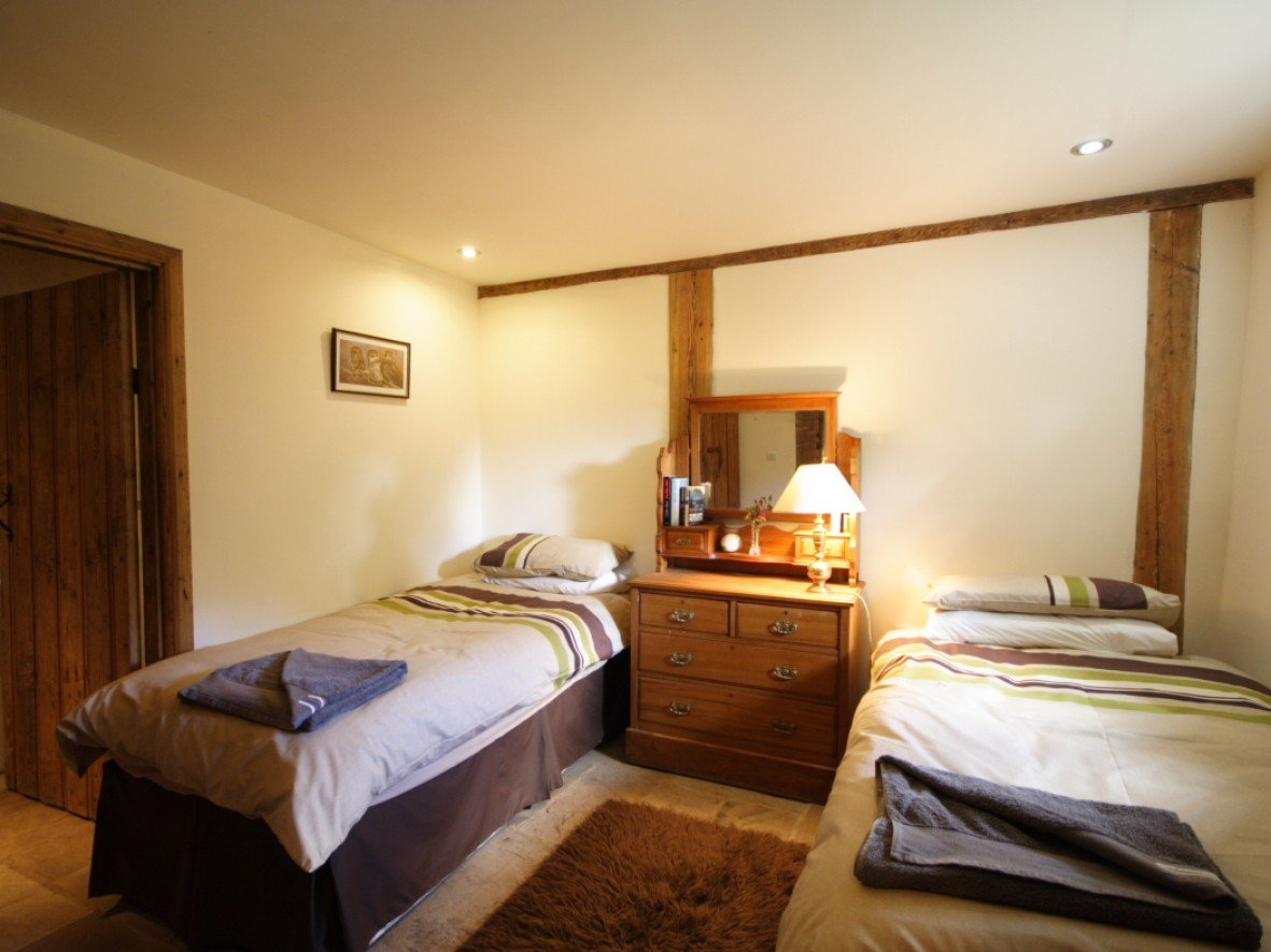 The Twin Room at Camps Heath Barn