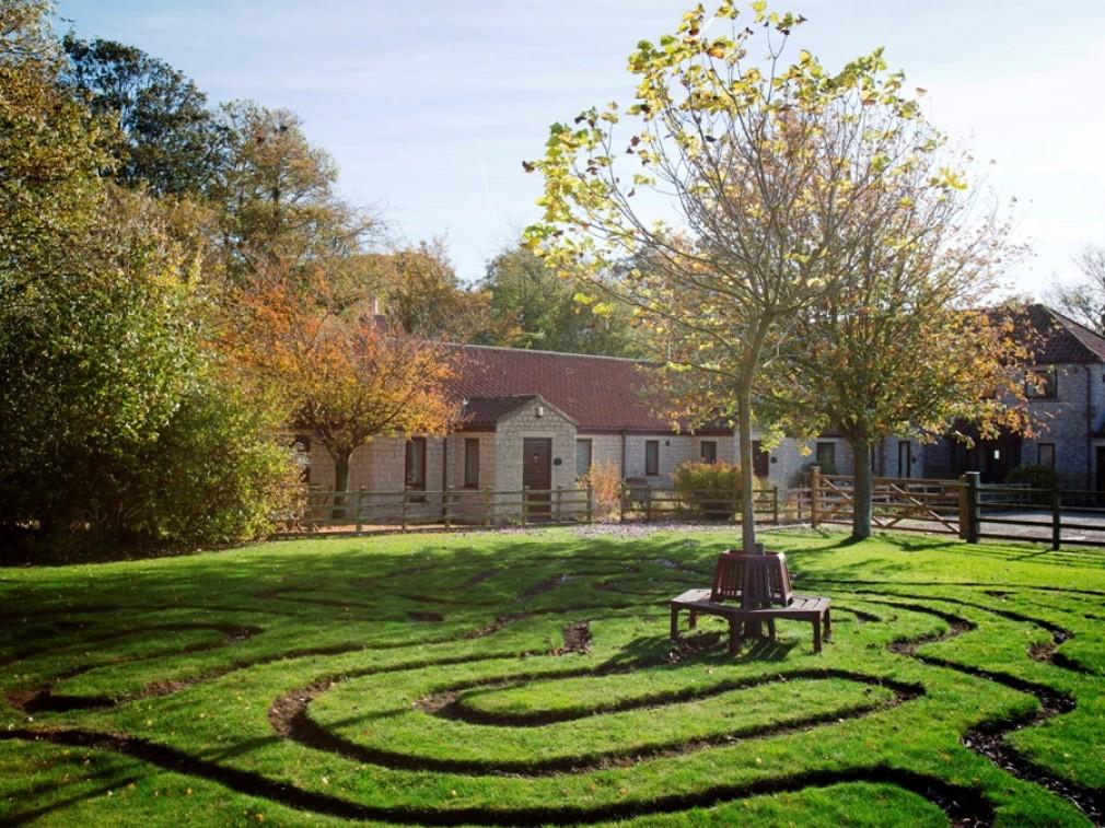 The maze at Keld Head Farm Cottages