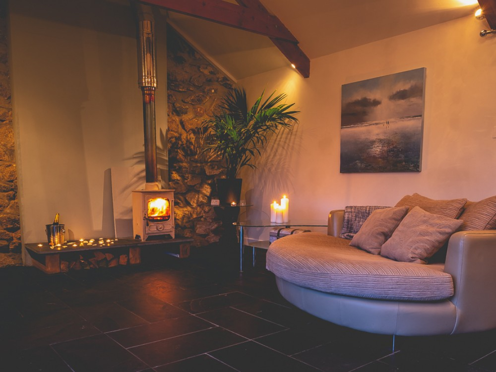 Stylish romantic interior of Lamorna view
