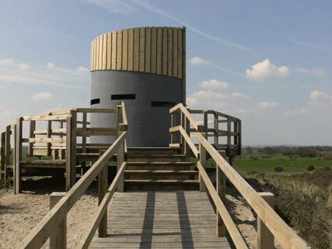 Bird Hide in the adjacent Country Park