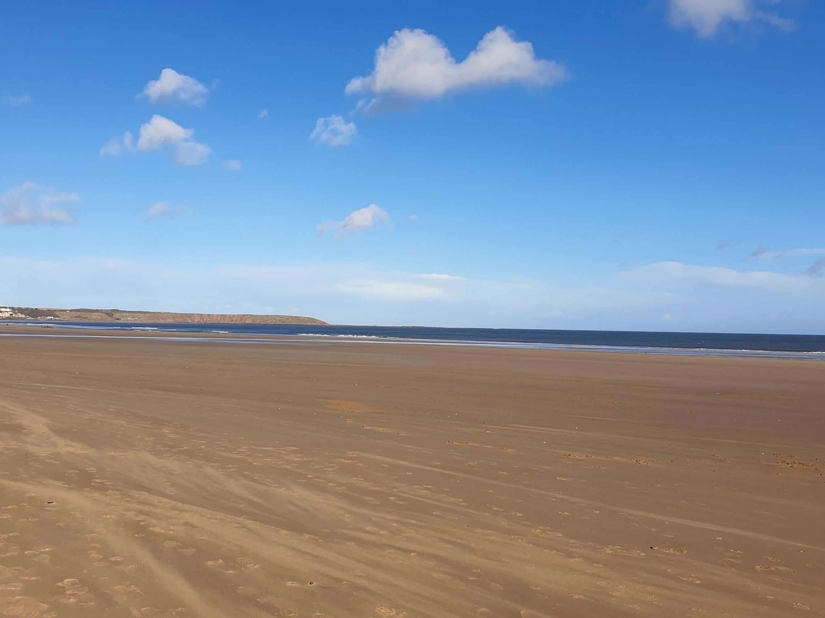 Yorkshire coast blue skies and sandy beaches