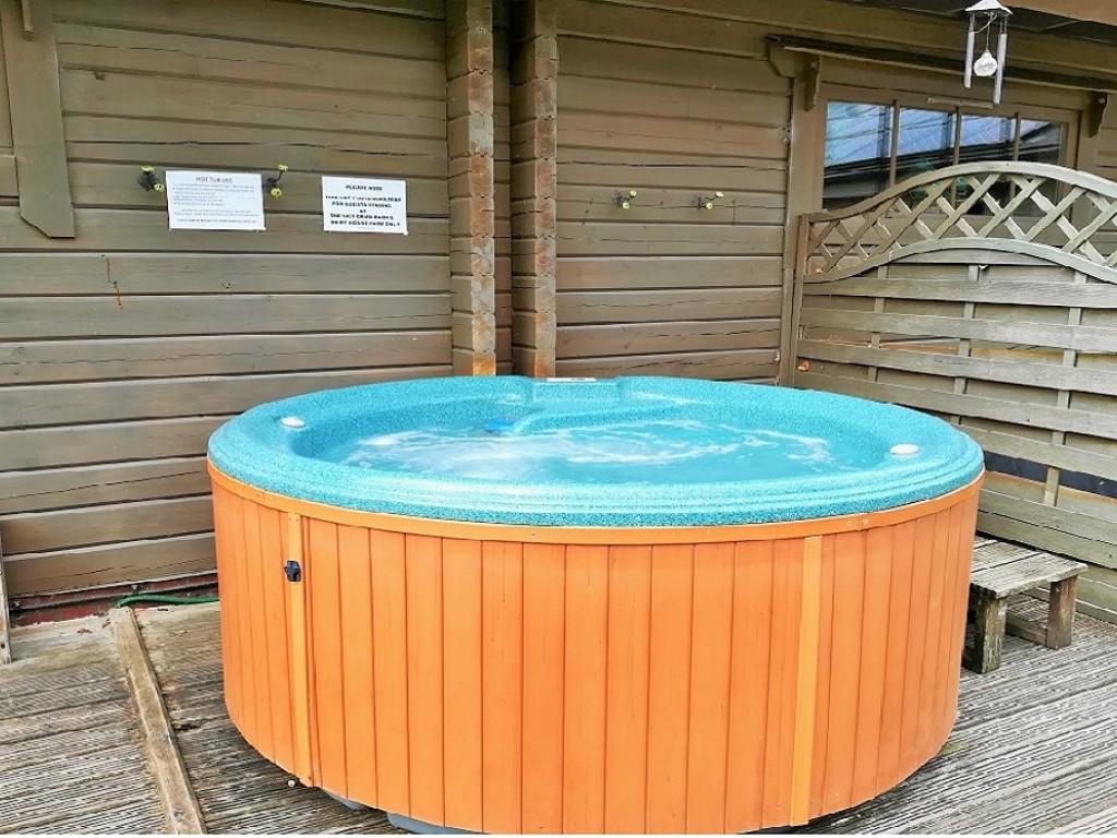 Communal outside hot tub