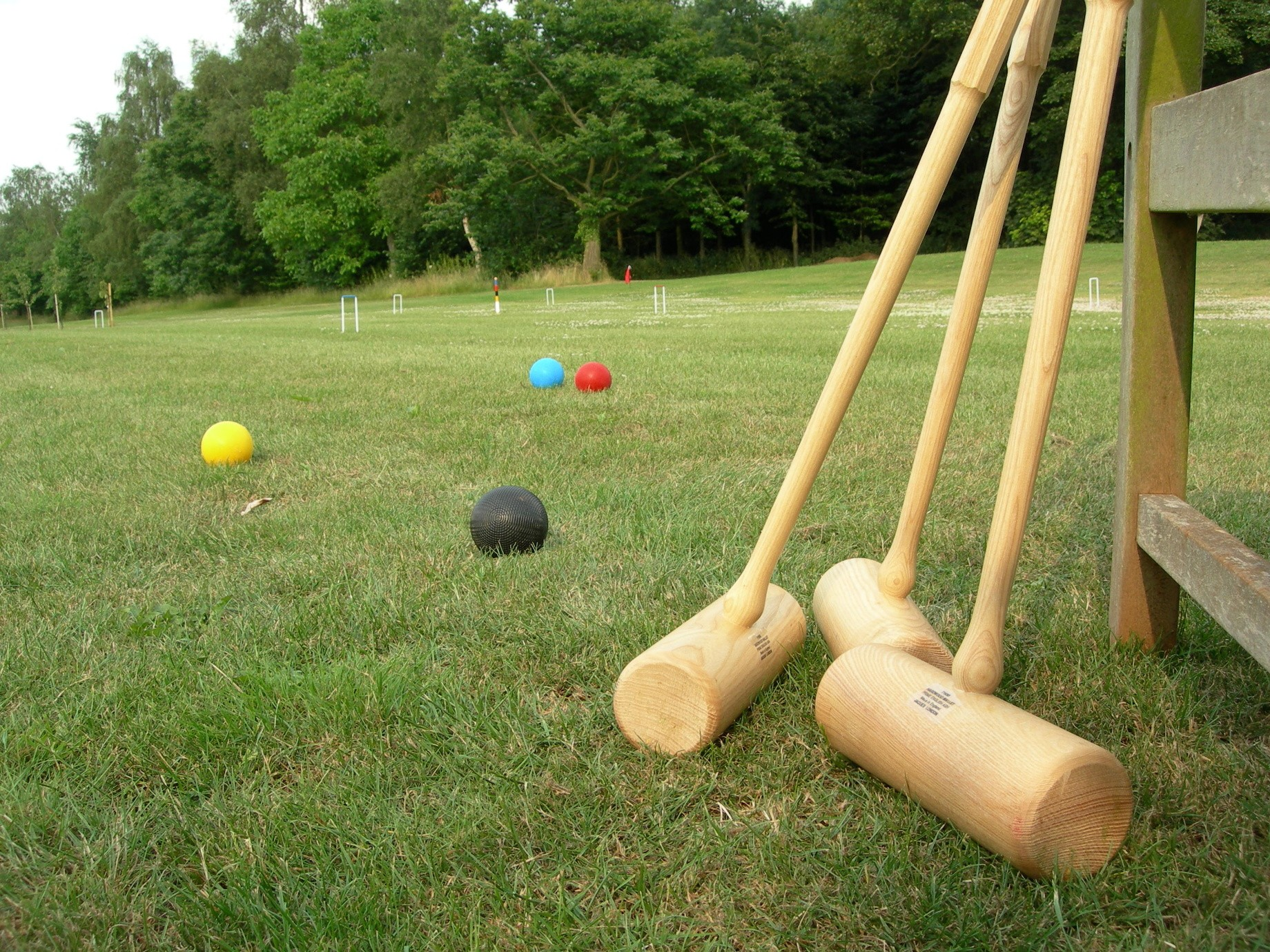 Croquet pitch on the Games Lawn