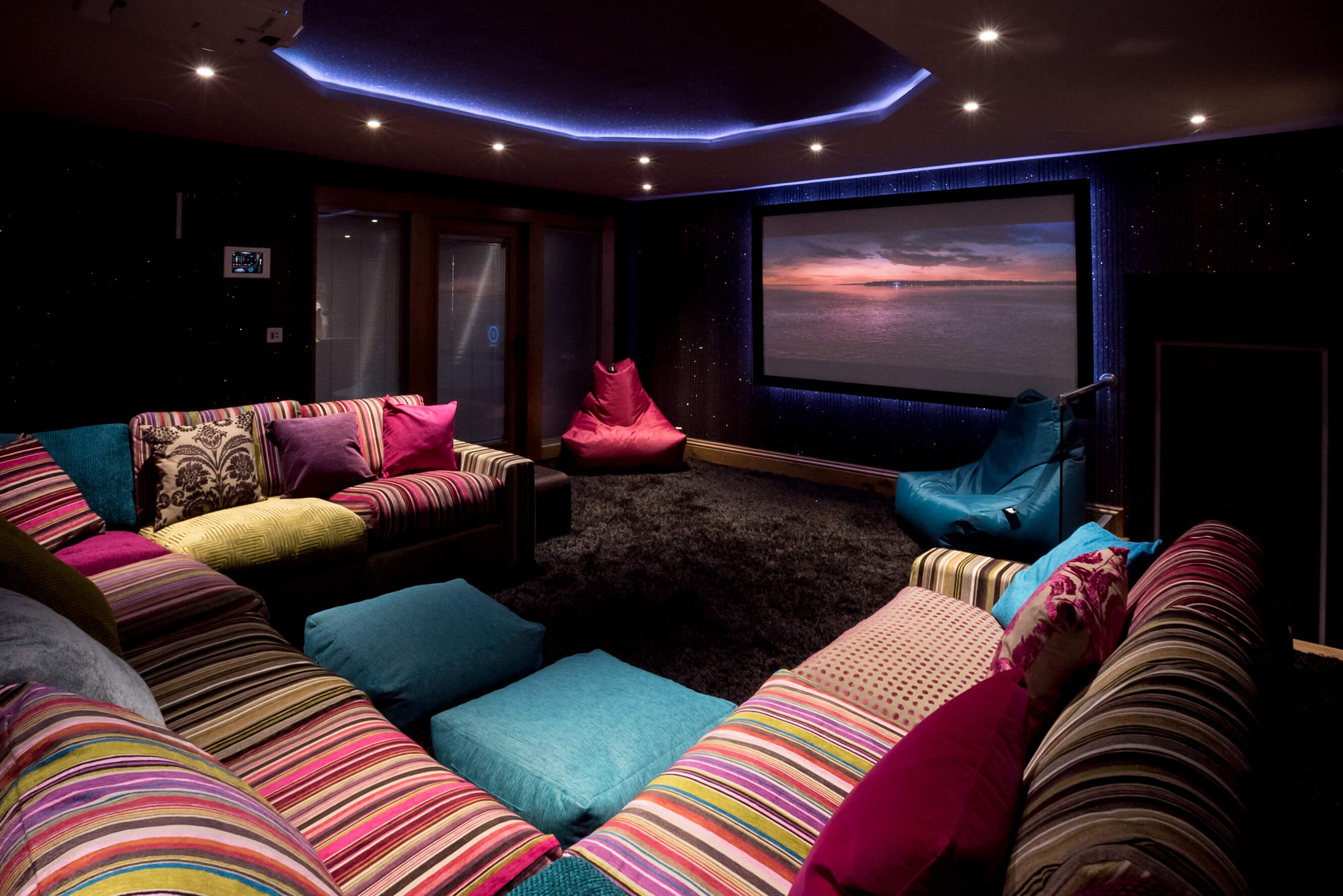 luxury cottage with a private cinema pictured