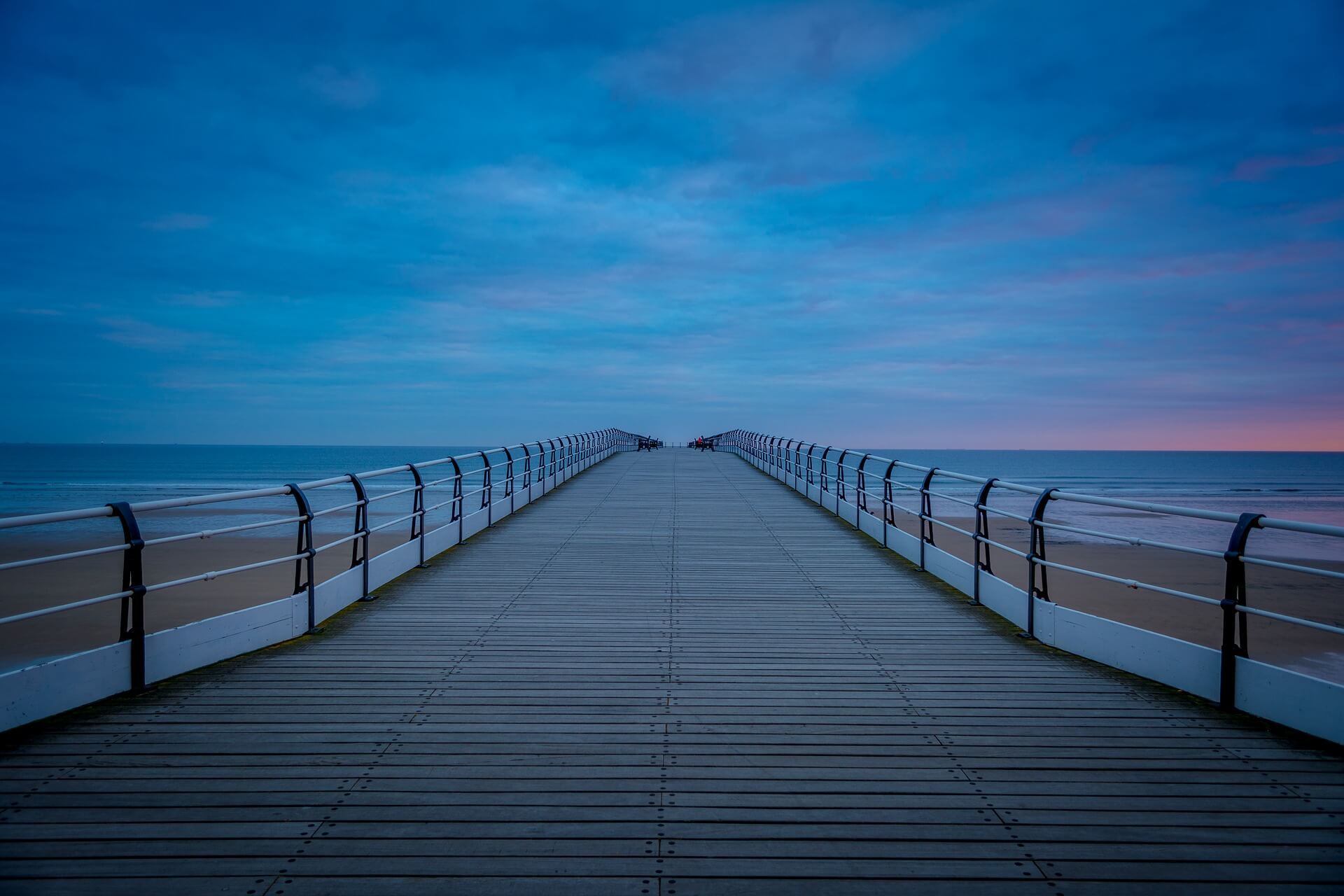 Saltburn Beach Pier at Dawn