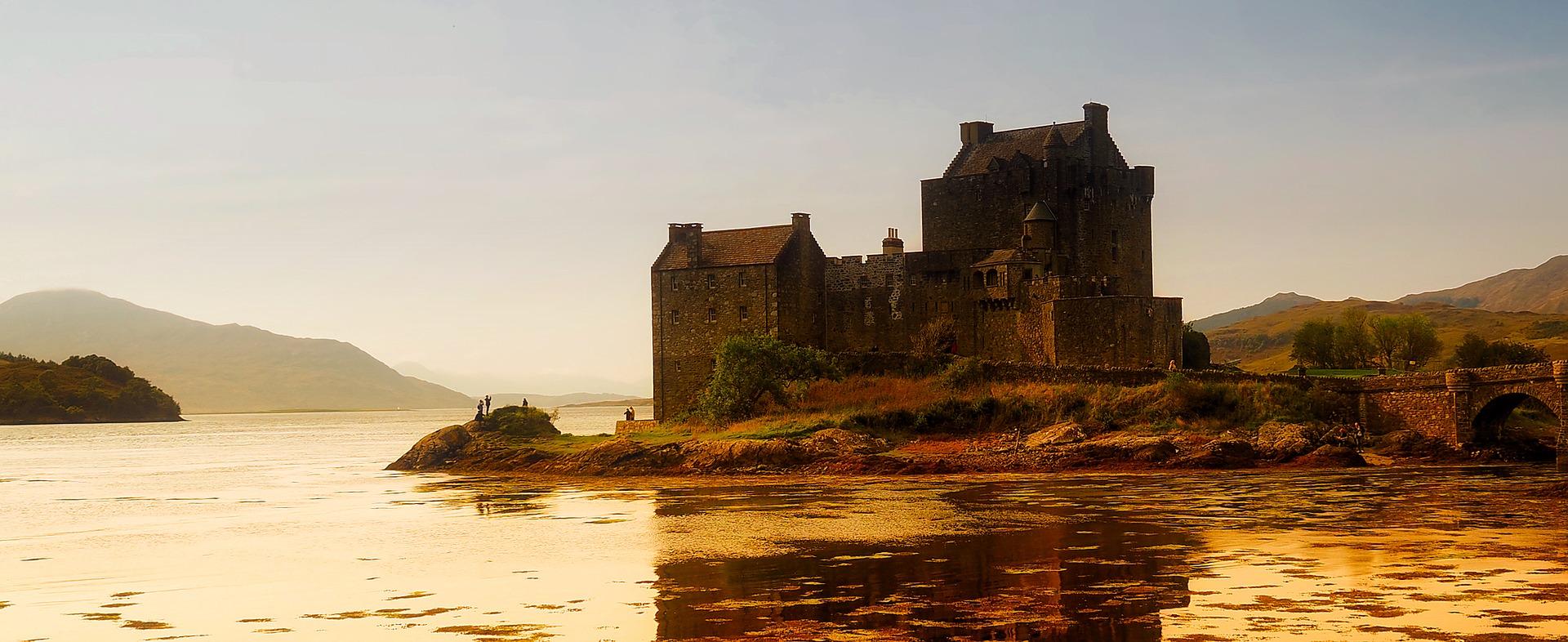 Scotland Cottages by  eilean donan castle
